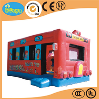 New design hot sale promotion inflatable renting school bus bouncers