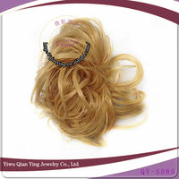 wholesale cheap crystal blonde synthetic hair bun pieces