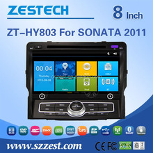 Cheapest dashboard 8 inch car radio player For Hyundai Sonata 2011 car gps with auto radio Bluetooth SD USB Radio wifi 3G