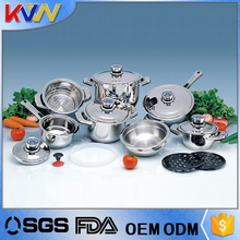 China manufacturer technique european stainless steel induction compatible cookware