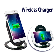 Lazy cell phone holder fast qi wireless charger mobile phone charging stand for iphone 8 X