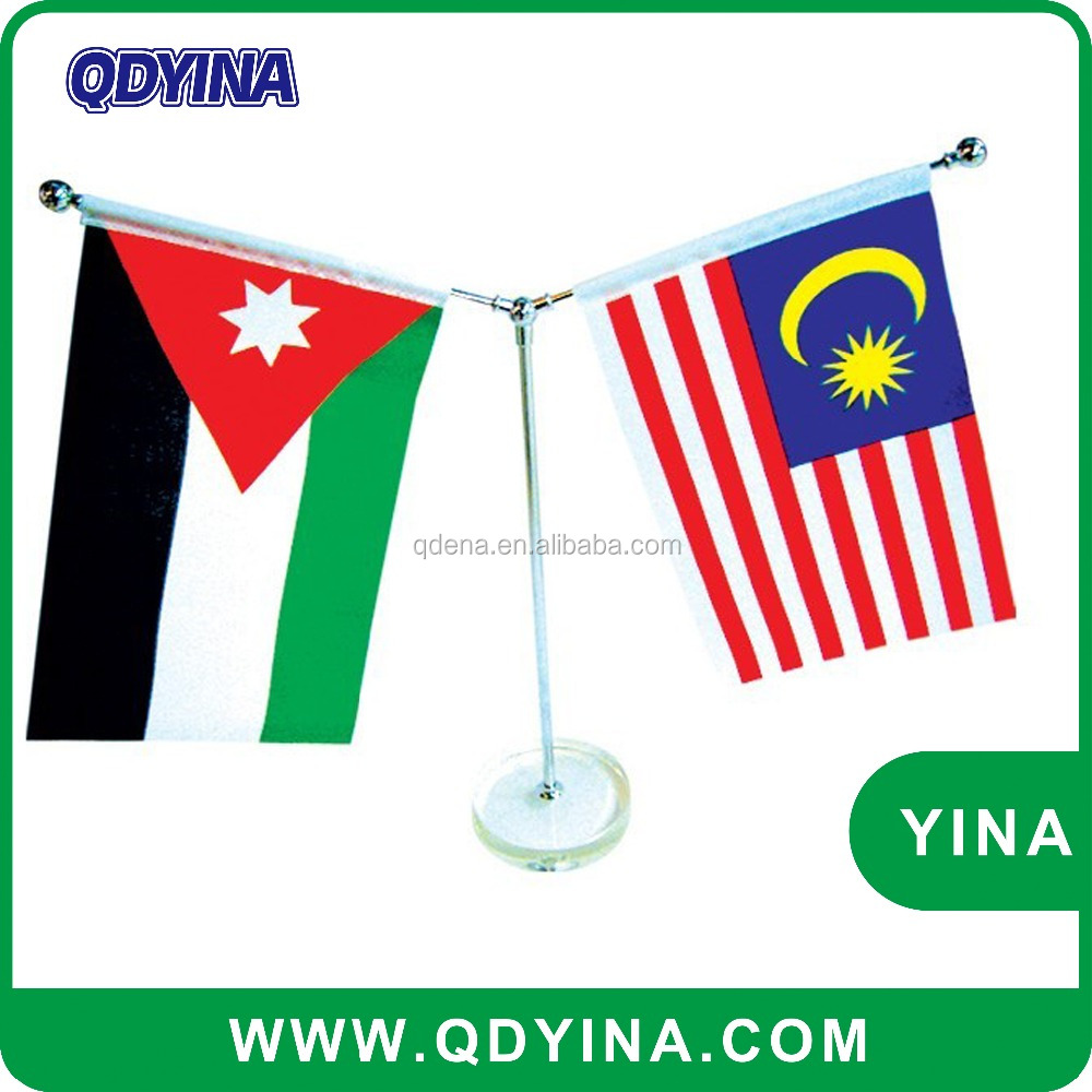 Factory price meeting table national flags