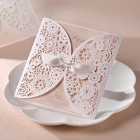 Elegant Laser Cut craft handmade free birthday card
