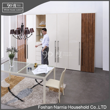 high quality swing door cheap wooden wardrobe with comestic table