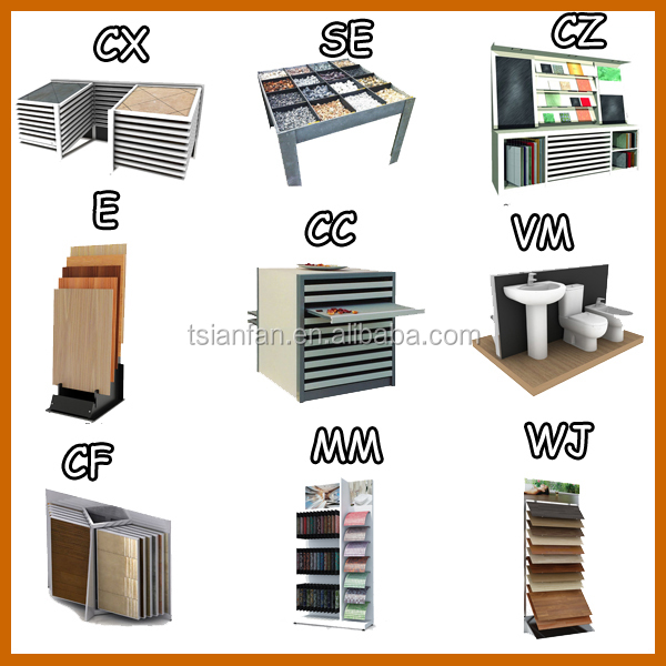 Rotating Page Turning Exibition Stand Ceramic Tile Metal Display Shelves