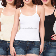 Latest New Design Hot Sexy Girl Polyester Plain Women Casual Camisole Tops Wholesale Factory China