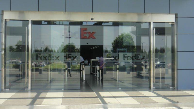 Office entrance doors