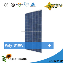 price per watt yingli solar panel 310w poly 156*156cells from china supplier