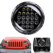 7inch 5D LED Headlight 105W Round H4 Headlamp For Jeep Wrangler Hummer Harley Motorcycle
