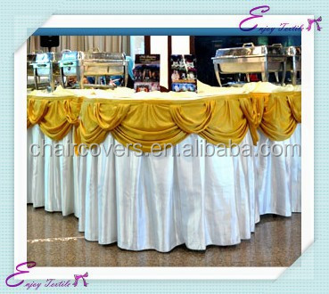 YHK#29 swag table skirt - polyester banquet wedding wholesale chair cover sash table cloth skirt linen