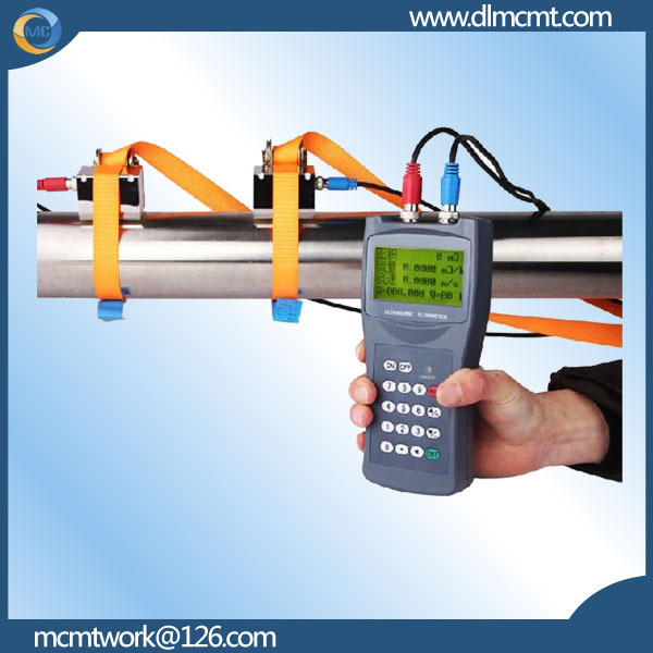 Dalian manufacture handheld type cheap ultrasonic flowmeter