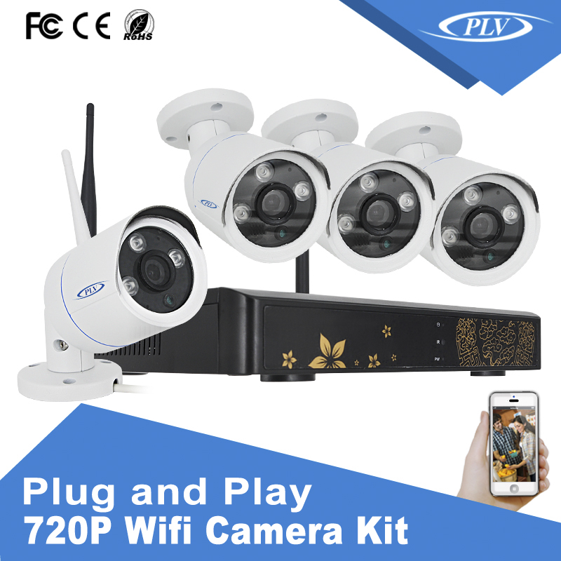 alarm security camera system home security wireless outdoor waterproof kit with IP66 Metal Casing