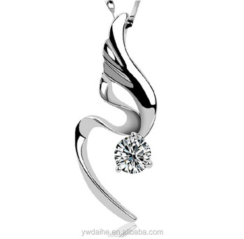 Daihe Fashion necklace with 925 sterling silver&crystal