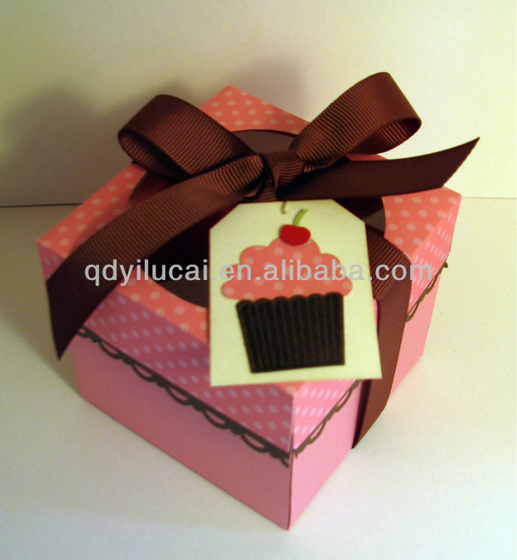Cardboard food grade cupcake packaging box