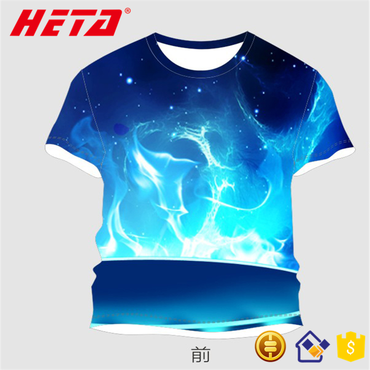 Newest wholesale OEM make your own design 3d digital printed custom designer t shirts