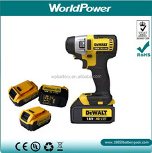 high performance 18V 3Ah power tool battery Dewalt li-ion battery pack