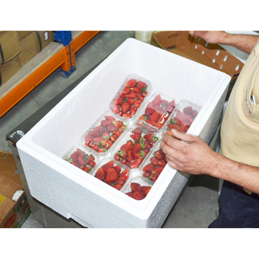 Insulation EPS foam boxes for strawberry fresh fruit shipping box