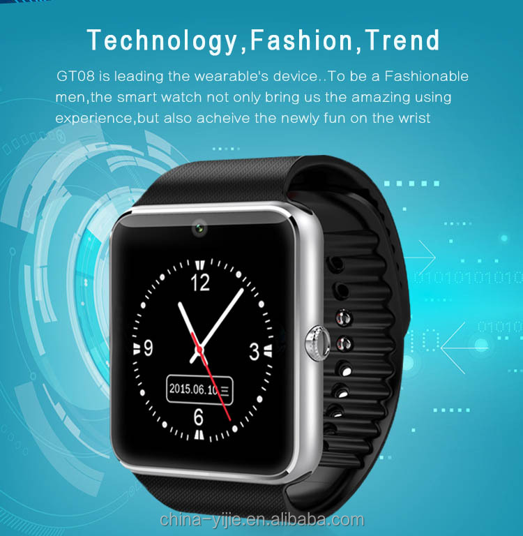 New design smart watch phone without sim card with high quality