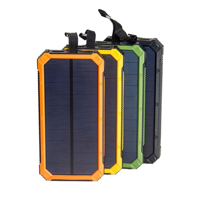 Hot Sale high capacity Battery Charger Phone10000Mah Waterproof Solar Power Bank