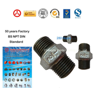 Malleable iron pipe fittings GI Nipples