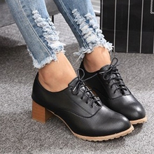 W91688A 2015 new model fashion women shoes ladies thick heel round toe shoes
