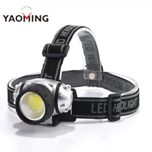 YAOMING Super Bright 10W Plastic COB LED Headlamp for Camping Hunting Riding