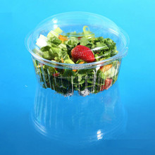 2016 New Take away Disposable Plastic Salad/snack food Packing Bowl with hinged lid