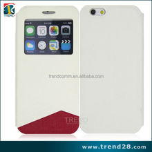 low moq good price leather cover for iphone 6