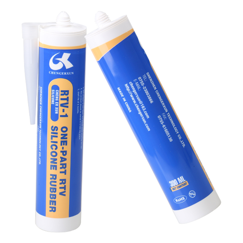 anti-fungus Ozone resistance anti-ultraviolet semitransparent silicone glue adhesive sealant for metal