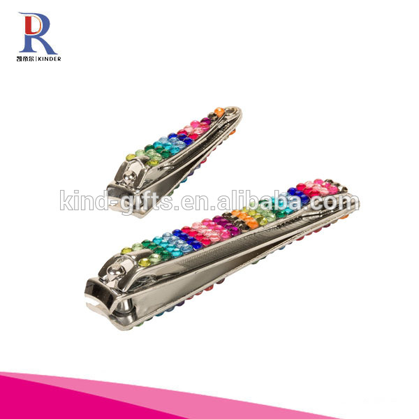 Funny Crystal Rhinestones Covered Sex Women Cosmetic Tool Round Nail Clipper