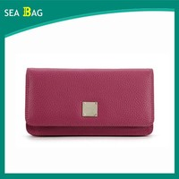 2016 High Quality Genuine Leather Fancy Ladies Cluth Purse Factory In China