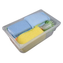 Popular kitchen plastic <strong>brush</strong> cleaning sponges microfiber cleaning clothglass cleaner wiper