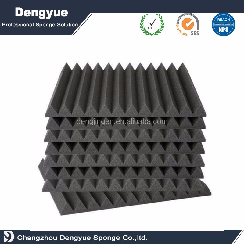 insulation rubber for door wedge polyurethane foam sound insulation wedge acoustic foam