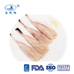 bulk or retail bag package frozen fish monkfish tail skinless