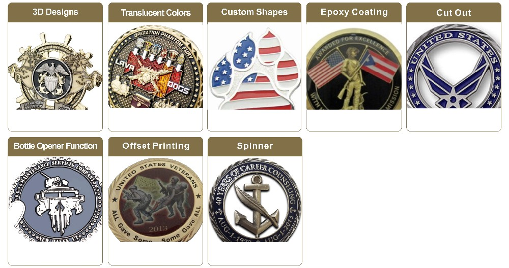 Factory Price Custom 3D Military Challenge Coin Manufacturer