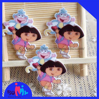 Dora printed flat back resin for DIY hair bows, gift decor, garment accessories etc.