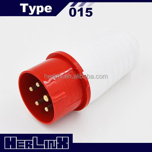 INDUSTRIAL CEE POWER MALE PLUG 015/025 16A/32A 380V 3P+N+E