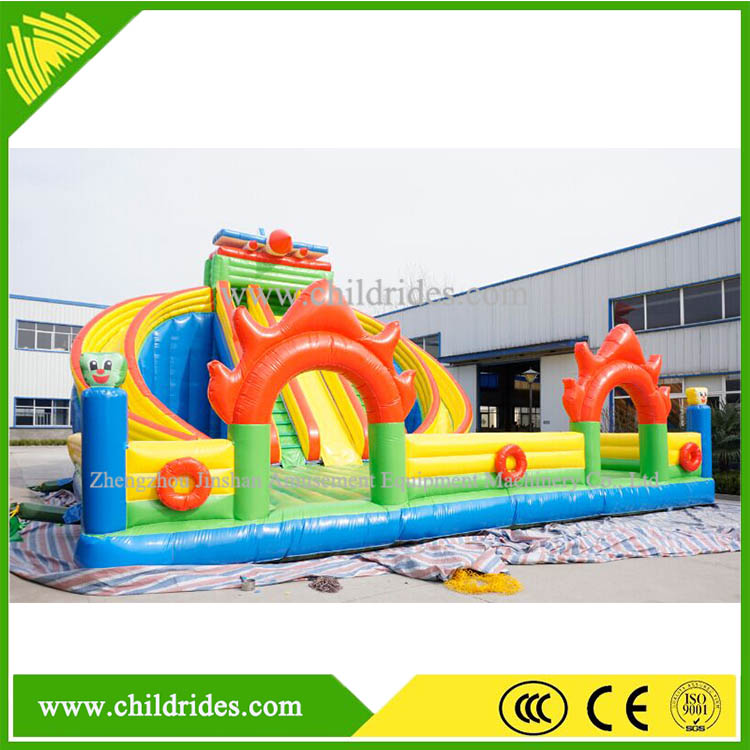hot sale backyard children game cheap inflatable slip water slide
