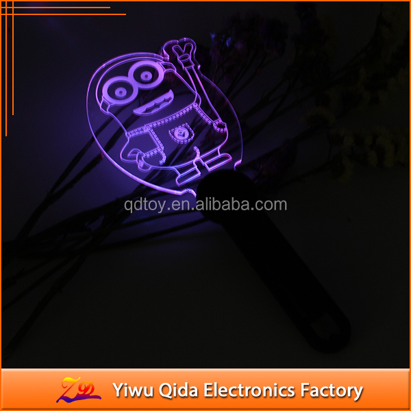 mini cartoon characters acrylic led glow stick for party led toys