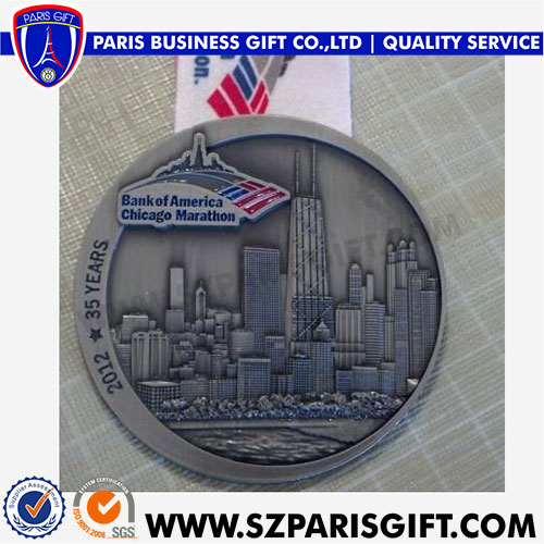 Custom Medals Sport 3d Medal Award For Bank Of America Chicago Marathon