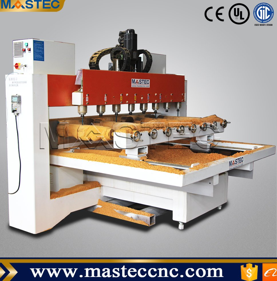 Multi-spindle 3D Wood Engraving Machine / 4 Axis CNC Router