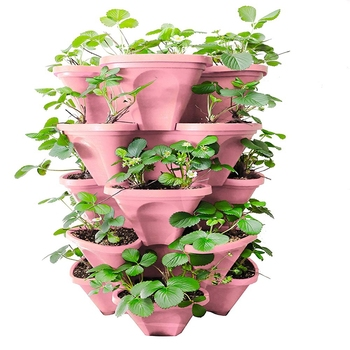 Home garden vertical strawberry grow pot with PP material