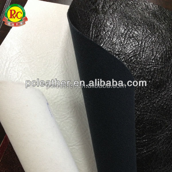 Pu/pvc synthetic leather nonwoven fabric burnish leather