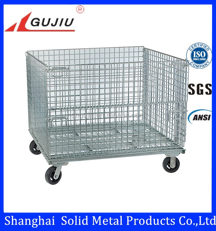 Warehouse Steel Cage Stackable Wire Cage Wire Bin