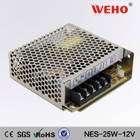 Constant Voltage Single Output LED Driver 25w 12v Dc Universal Regulated Switching Power Supply 2a
