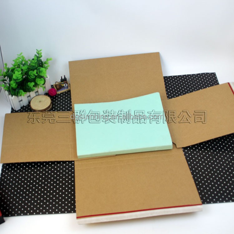 CD packaging mailer book shape books with self adhesive seal paper box