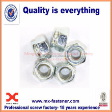 Steel M6 nylon insert lock nut