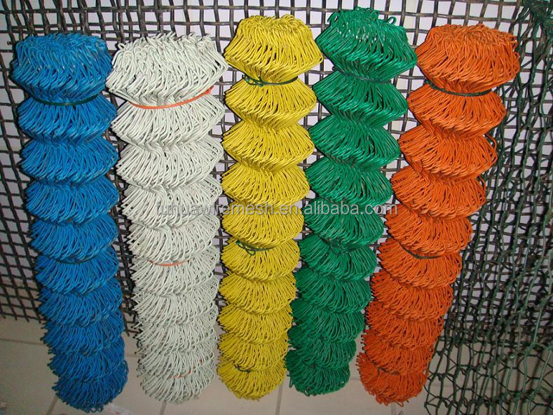 diamond razor wire mesh fence pvc coated plastic chain link fence panels