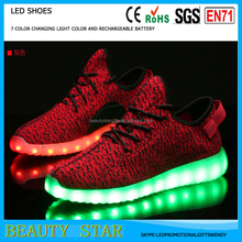 2016 LED Shoes for Women and Men Light up Casual Shoes for Adults USB Charger 7 colors Lumineux Basket Femme LED Trainers
