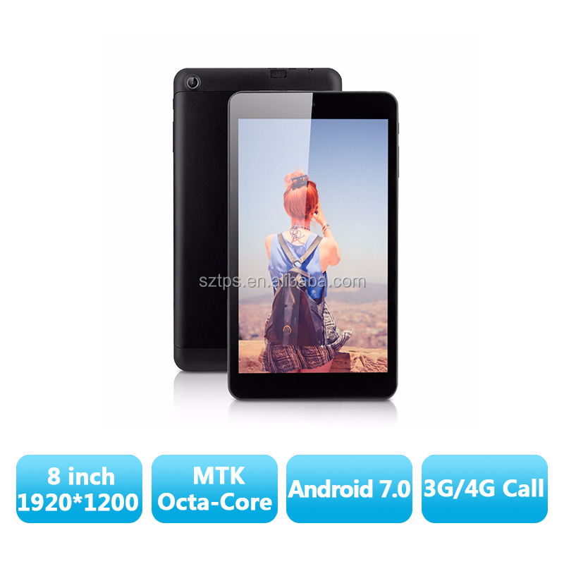 Metal housing 8inch tablet pc with MTK8392 Octa core,RAM 2G ROM 16G,dual 3g calling,gps